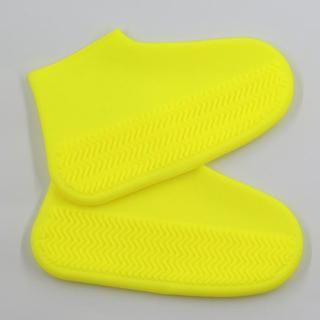 【BeOK】防水防雨矽膠耐磨攜帶式輕便鞋套 戶外騎車防滑 黃色