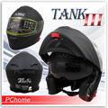 【SBK TANK III 素色 消光黑 超輕量 雙層鏡片 可掀式 全罩安全帽可樂帽 雙D扣】內襯全可拆