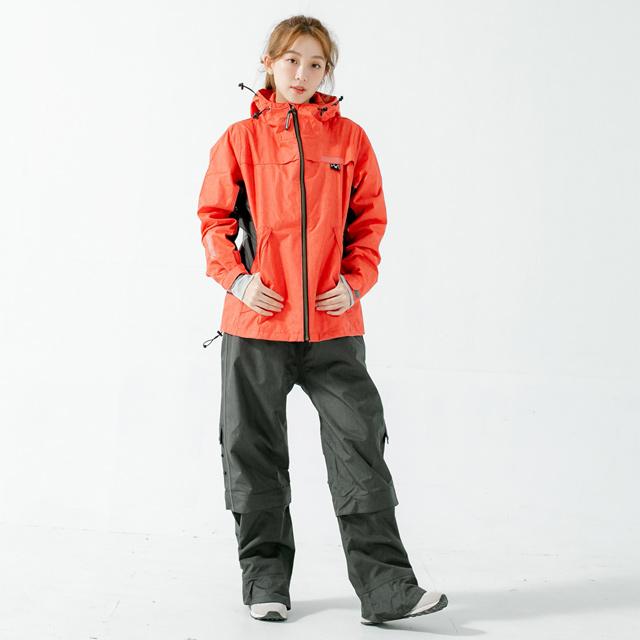 Aero9項專利透氣兩件式風雨衣(A9)-紅