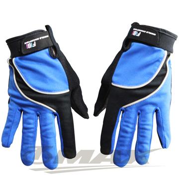 omax新全功能防曬透氣全指手套-藍色L-男