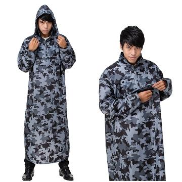 【東伸】旅行者半開式雨衣(雨衣、大衣雨衣、迷彩)
