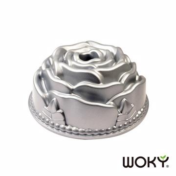 【WOKY沃廚】焙寧系列-玫瑰不沾蛋糕模具