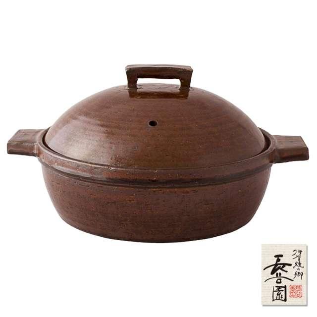 【日本長谷園伊賀燒】小酒館蒸煮鍋(咖啡)-大