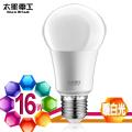【太星電工】LED燈泡 E27/16W/暖白光A616L 6入
