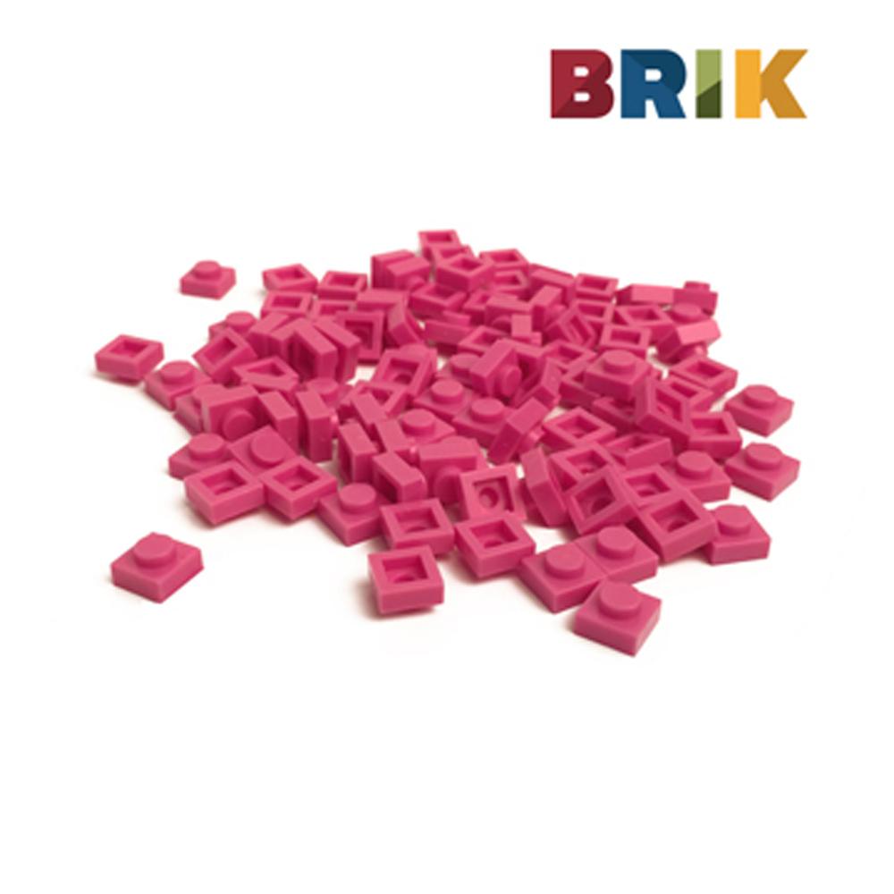 美國Brik 積木組- 桃紅色