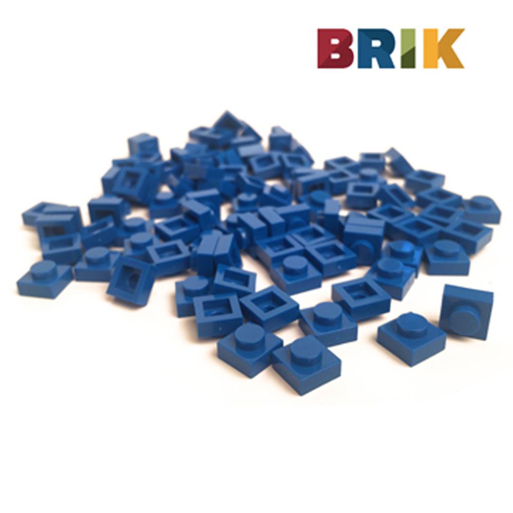 美國Brik 積木組- 深藍色