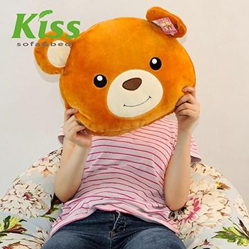 Kiss。Sofa -迷濛熊大頭毛绒抱枕