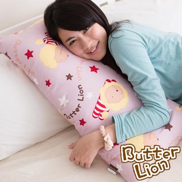 【奶油獅】正版授權搖滾星星長型抱枕-淡紫(一入)