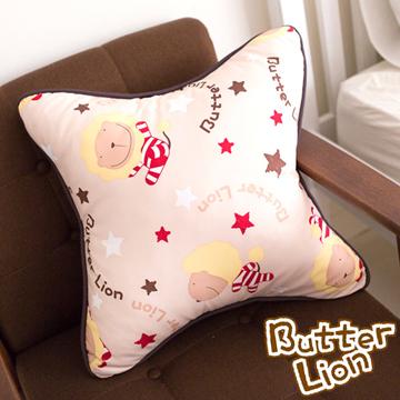【奶油獅】正版授權搖滾星星方型抱枕-米色(一入)