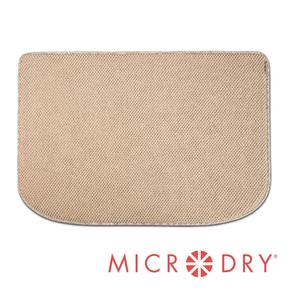 Microdry 舒適多功能地墊【亞麻色】F-贈記憶綿浴墊【巧克力】