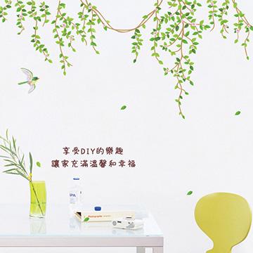 【佳工坊】第三代超強防水藝術壁貼系列(優雅藤蔓)