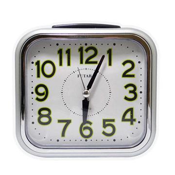 《一打就通》FUTABA時尚超大鐘面靜音鬧鐘 W-739 (三色) ∥大數字∥大鈴聲∥