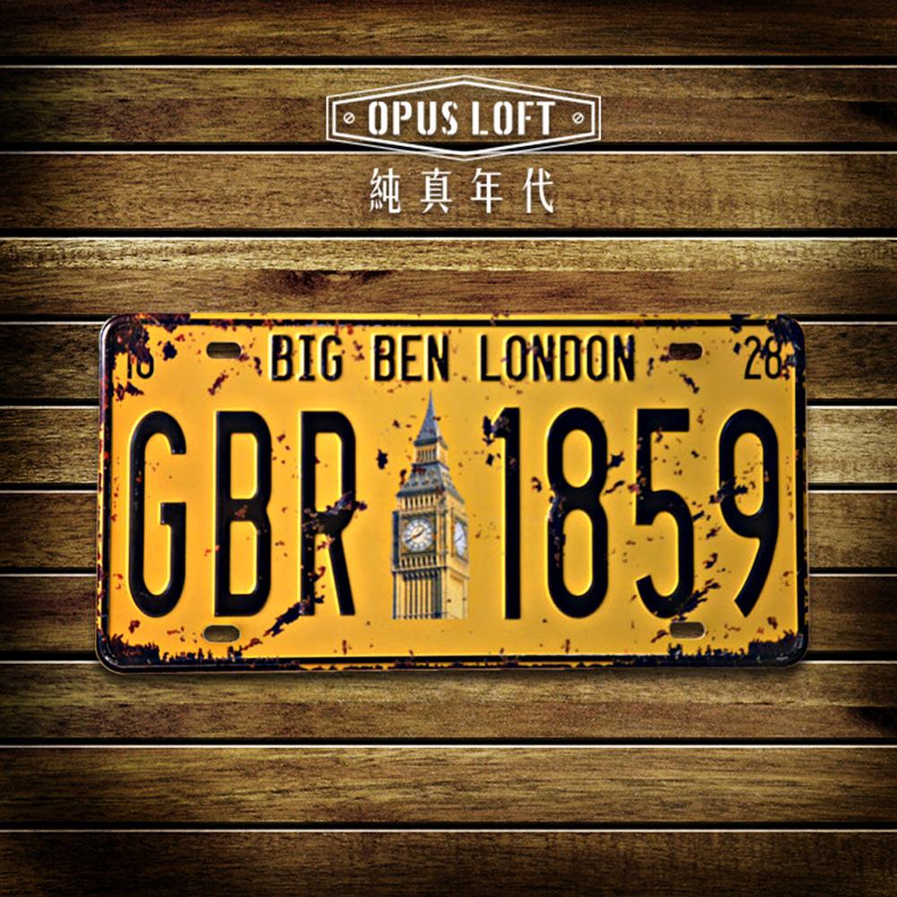 OPUS LOFT美式鄉村復古創意車牌 家居裝飾掛飾 個性壁飾(TP-017倫敦大笨鐘)