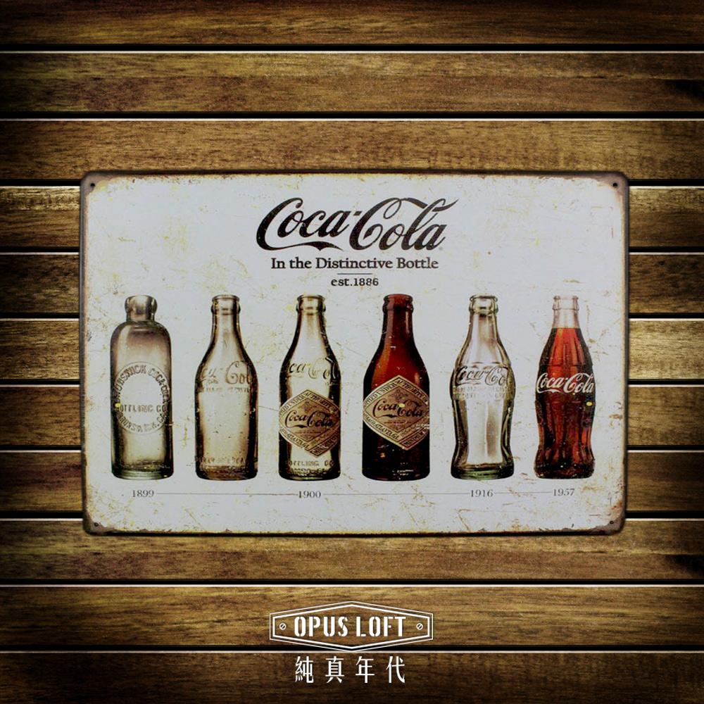 OPUS LOFT複古鐵皮畫 COCACOLA廣告海報招牌畫 酒吧咖啡廳裝飾(TP1074 可口可樂)