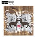 Stags In Love-陷入愛河 德國原裝進口【Paper+Design】餐巾紙哪裡買環保安全無毒不掉色蝶古巴特