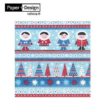 Nordic Xmas 北歐聖誕節 德國原裝進口【Paper+Design】餐巾紙哪裡買環保安全無毒蝶古巴特