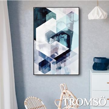 TROMSO北歐生活版畫有框畫-白晝菱格WA73