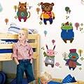《Stylelife》情境壁貼★童趣漫漫-冬日森林動物