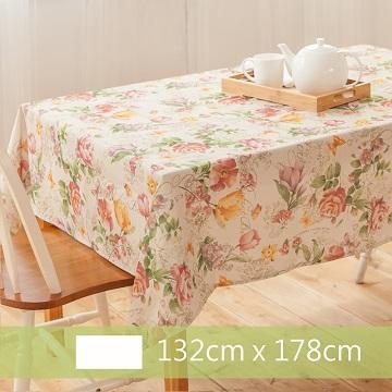 【Robert Green 格林家飾】 布桌巾 粉色玫瑰園 132x178cm