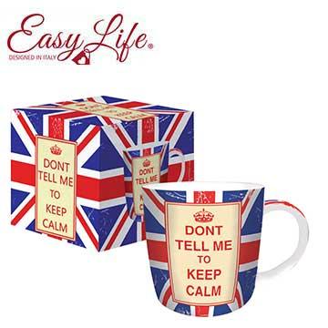 義大利 Easy Life 馬克杯(磁)350 ml 英國旗 不要告訴我,保持冷靜 [DONT TELL ME TO KEEP CALM]