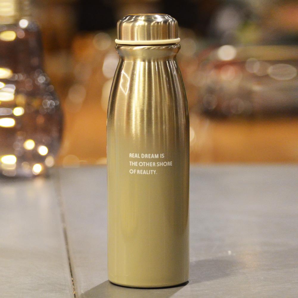 【YU Living】漸層不鏽鋼保溫水瓶/ 水壺450ML-灰