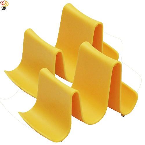 月陽優雅波浪造型多用途鍋蓋架湯勺筷架置物架超值2入(A0172)
