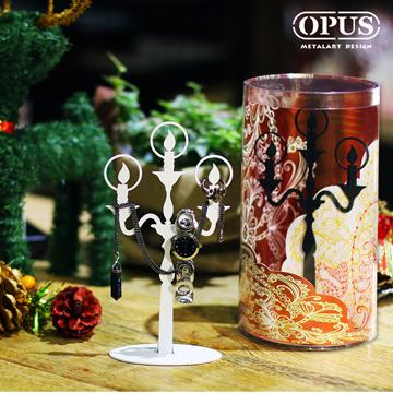 【OPUS東齊金工】歐式鐵藝飾品架-希望之光(白) 展示架收納架首飾架項鍊耳環珠寶飾品掛架 PI-li06W