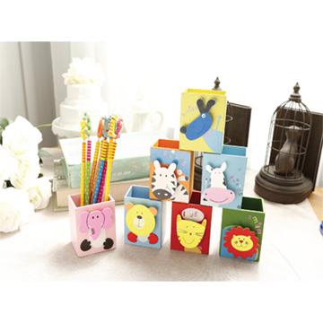 韓國創意時尚可愛木質筆座