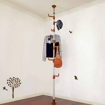 LIFECODE 春樹頂天立地多用途衣帽架包包架 (咖啡色)