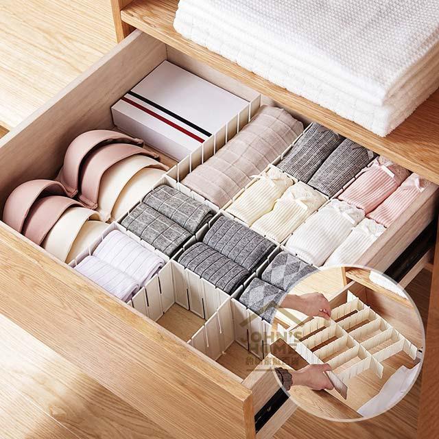 DIY抽屜整理隔板 抽屜整理格 分類收納 自由組合 6片裝