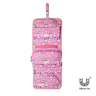 獨家設計~旅行必備 甜蜜粉紅小熊盥洗包 化妝包 (1826002)