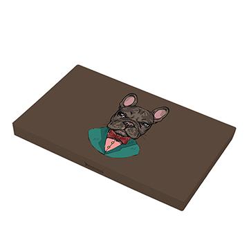 【Singlenest】黑色紳士鬥牛犬-口罩收納盒