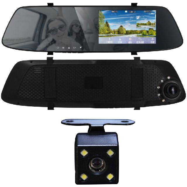IS愛思 RV-11XW 4.3吋觸控前後雙鏡頭後照鏡行車紀錄器 Full HD 1080P 原價$3690限時優惠!~