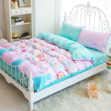 Picasso-花蝴蝶-雙人三件式 床包組