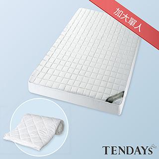 【TENDAYS】備長炭床包型保潔墊(加大單人)+枕套單入