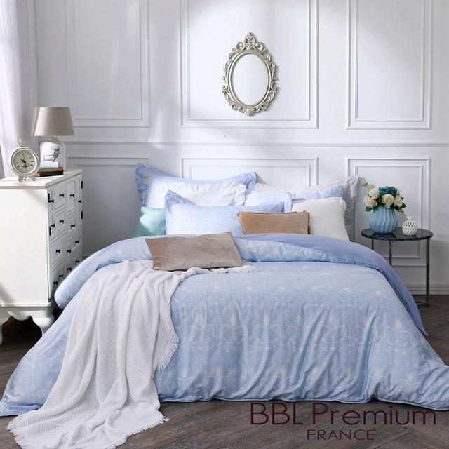 【BBL Premium】古典戀情-藍100%天絲.印花雙人兩用被床包組