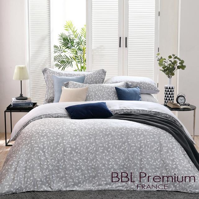 【BBL Premium】月影搖曳100%天絲.印花雙人兩用被床包組