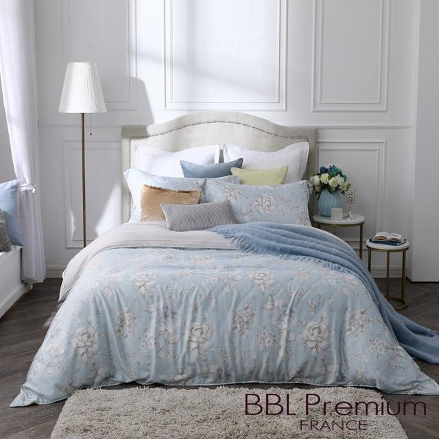 【BBL Premium】薩菲亞100%天絲.印花雙人兩用被床包組