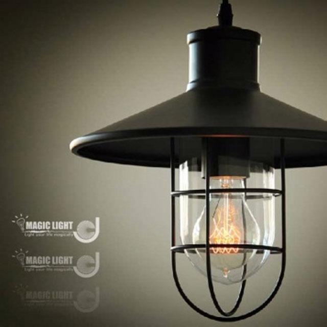 【光的魔法師 Magic Light】Loft 美式鄉村工業餐廳複古創意單頭倉庫鳥籠吊燈