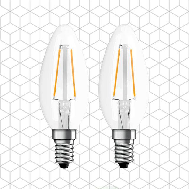 MasterLuz-全電壓 4W E14 LED復古鎢絲尖清燈泡 黃光(2入)