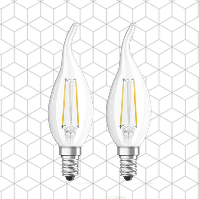 MasterLuz-全電壓 4W E14 LED復古鎢絲拉尾燈泡(蠟燭燈泡) 黃光(2入)