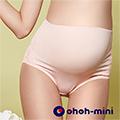 【ohoh-mini 孕婦裝 】花漾美型。蕾絲款孕婦高腰內褲-粉色