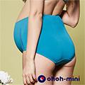 【ohoh-mini 孕婦裝 】花漾美型。蕾絲款孕婦高腰內褲-藍色