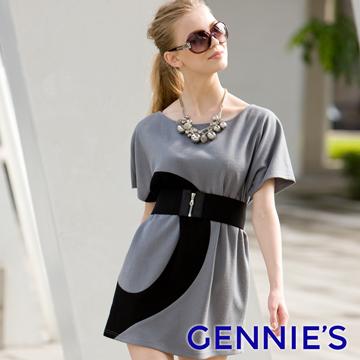 Gennie's奇妮 ITALY-Faravani系列‧時尚羊毛寬版孕婦上衣(C3Y06)灰色