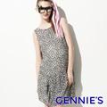 Gennie's奇妮 甜心約會雪紡春夏孕婦洋裝(G1501)