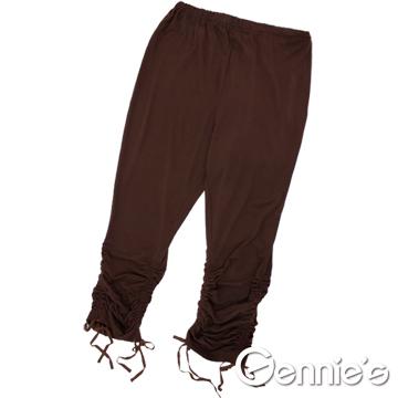 Gennie's奇妮四季皆宜~百搭抽皺棉質孕婦內搭褲-多色可選(G4604)