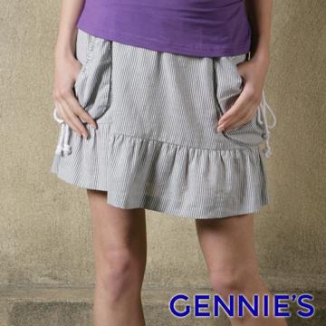 Gennie's奇妮個性休閒風立體口袋短裙(一體成型)-三色可選(G4X06)