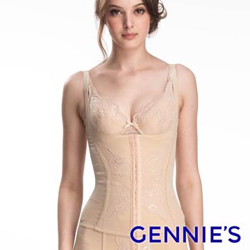Gennie's奇妮 中機能280丹尼塑身背心(膚色GZ70)M-XL