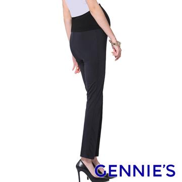 Gennie's奇妮 魔術酷褲WinCool舒爽春夏孕婦長褲-灰(G4734)