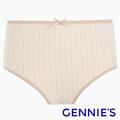 Gennies奇妮 天然原棉系列-孕婦高腰內褲-條紋棕(GB30)